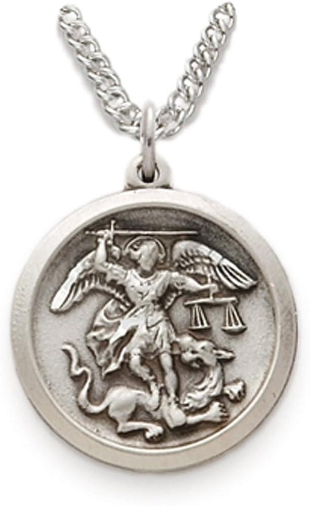 New 0.925 Sterling Silver Archangel Saint St Michael Pendant Charm