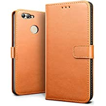 Huawei nova 2 Case, SLEO Retro Vintage PU Leather Wallet Flip Case Cover for Huawei nova 2 (Verizon, AT&T Sprint, T-mobile, Unlocked) - Brown