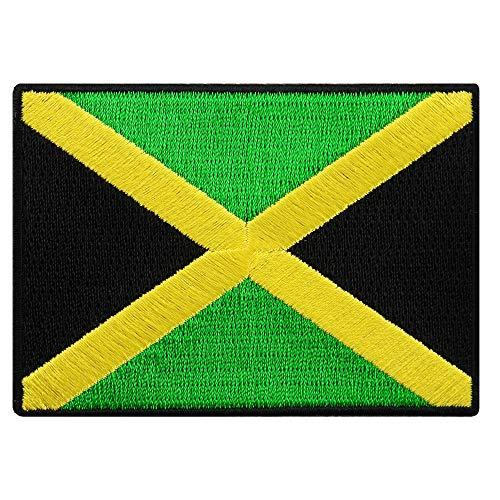 Jamaica Flag Embroidered Patch Rasta Jamaican Iron-On Rastafarian National Emblem ()