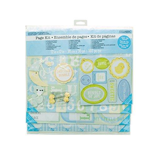 Baby Boy Scrapbook Page Kit - Pack of 18 (Scrapbook Colorbok Kit)