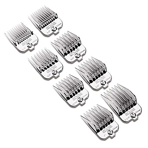 (Andis 8 Piece Chrome Plated Magnetic Pet Clipper Comb Set)