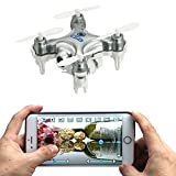 AICase® Cheerson CX-10W 4CH 2.4GHz iOS / Android APP Wifi Romote Control RC FPV Real Time Video Mini Quadcopter Helicopter Drone UFO with 0.3MP HD Camera, 6 Axis Gyro - Silver