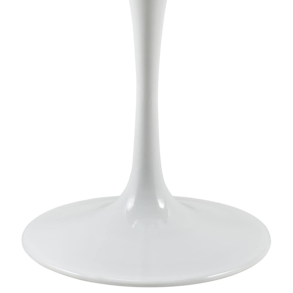 """Modway Lippa 36"""" Artificial Marble Dining Table in White"""
