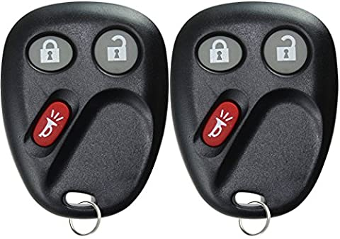 KeylessOption Keyless Entry Remote Control Car Key Fob Replacement for LHJ011 (Pack of 2) (Keyless Entry Car Fob)
