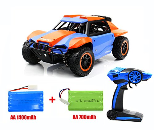TIANFEI High-speed RC Car,1/18 Scale armoured off-road vehicles, Electric 4WD outdoors entertainment Drift stunt Racing Truck with 2 Ni-CD Battery (Blue)