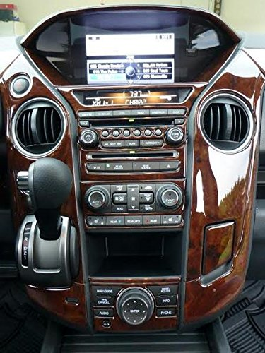 Honda pilot interior wood dash trim kit set 2012 2013 2014 for Interior trim materials