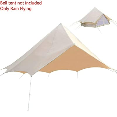 RT 5M Bell Rain Fly Waterproof Glamping Yurt Oxford Tent Accessories: Garden & Outdoor