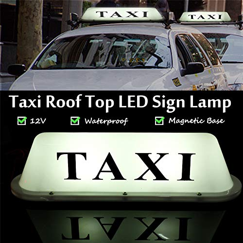 (Taxi Cab Roof Top Illuminated Sign Topper Car 12V Car Top Light waterproof)