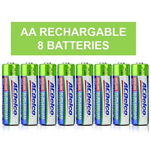 ACDelco AA Rechargeable Batteries, 8Count