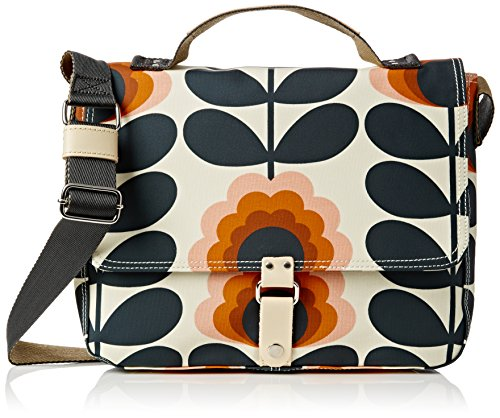 Orla Kiely Summer Flower Stem Satchel. , Sunset by Orla Kiely