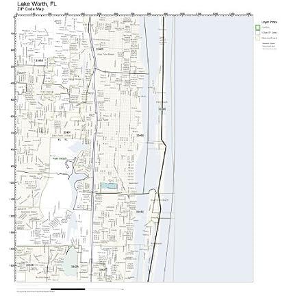 Lake Worth Fl Zip Code Map.Amazon Com Zip Code Wall Map Of Lake Worth Fl Zip Code Map