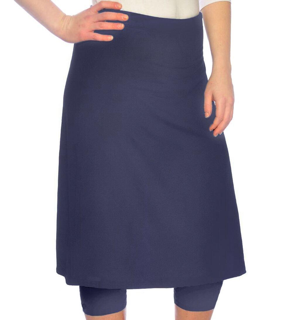 Kosher Casual Women's Modest Knee Length Sports Skirt with Leggings Medium Navy