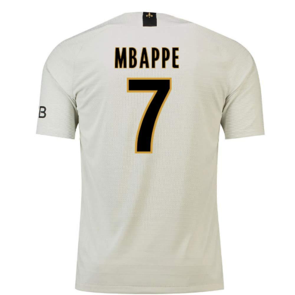 2018-19 PSG Away Football Soccer T-Shirt Trikot (Kylian Mbappe 7)