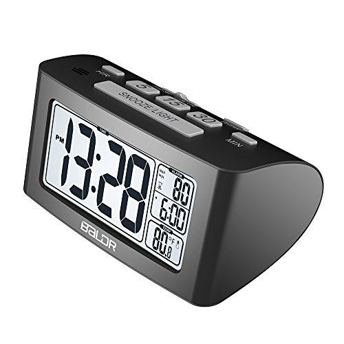 BALDR Nap Clock with Quick Set-up Digital LCD, Black