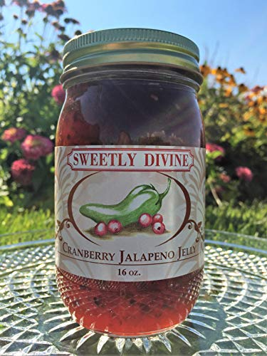 (Sweetly Divine Hot Pepper Jelly (Cranberry Jalapeno) )