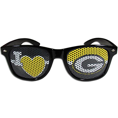 NFL Green Bay Packers I Heart Game Day Shades, - Bay Heart Green Packers