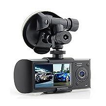 PolarLander 2.7inch Dual Lens Car DVR X3000 R300 Dual with GPS G-Sensor Camcorder 140 Degree Wide Angle Car DVR Camera Recorder Dash Cam