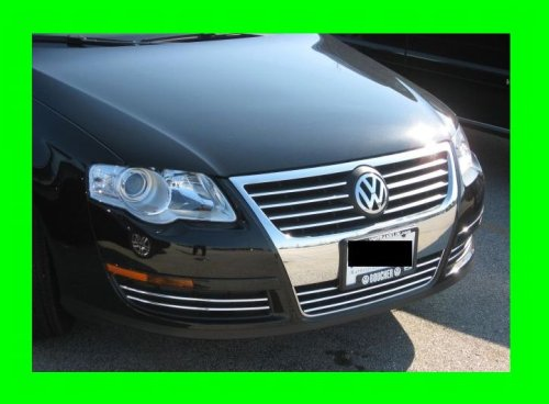 VOLKSWAGEN VW B6 2005-2010 PASSAT CHROME GRILLE GRILL KIT 2006 2007 2008 05 06 07 08 09 2009 10 2005.5 KOMFORT TURBO WAGON 2.0 3.6 LX 4MOTION 2.0T (Turbo Wagon)