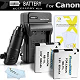 2 Pack Replacement NB-11L Battery And Charger Kit For Canon Powershot ELPH 180, ELPH 190 IS, ELPH 150 IS, 170 IS, ELPH 340 HS, SX400 IS, ELPH 160, SX410 IS, SX420 IS, ELPH 350 HS, ELPH 360 HS Digital Camera