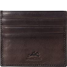 Mancini Rfid Secure Credit Card Case, Brown, Under Seat