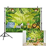 Allenjoy 7x5ft Jungle Safari Themed animals Photo birthday party banner photo polyester backdrop photography baby shower Kids Birthday Party