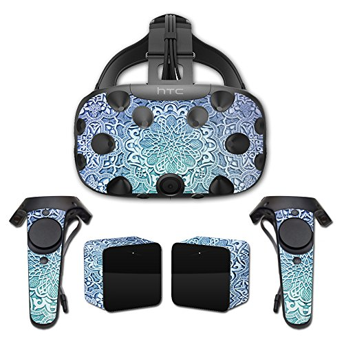 MightySkins Skin For HTC Vive Full Coverage - Carved Blue | Protective, Durable, and Unique Vinyl Decal wrap cover | Easy To Apply, Remove, and Change Styles | Made in the USA by MightySkins