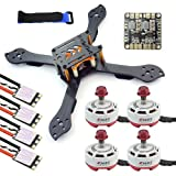 QWinOut DIY Accesory Kit 210mm X Shape Frame RS2306 Brushless Motor 30A ESC with PDB 5V BEC for FPV Racing Drone Quadcopter Multicopter with EMAX ESC