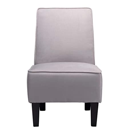 Swell Cushioned Linen Armless Settee Loveseat Sofa Couch Home Casual Living Room Sleeper One Seat Light Gray Gamerscity Chair Design For Home Gamerscityorg