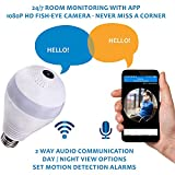 SMART 360 DEGREE LED LAMP PLUS CAMERA | BUILT-IN WI-FI AND 1.3 MP