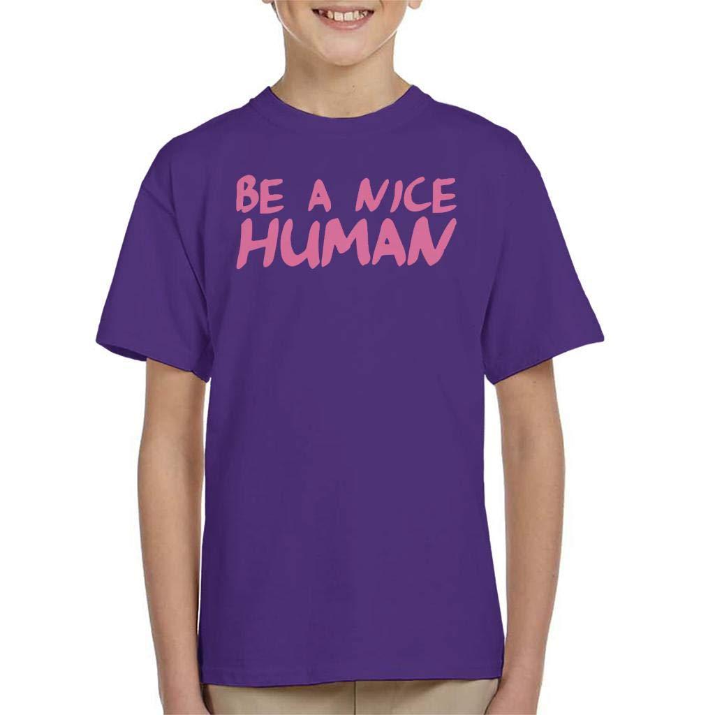 Coto7 Be A Nice Human Neon Kids T-Shirt