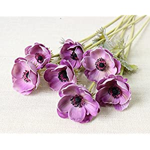 5Pcs Artifical Real Touch PU Anemone Flower Bouquet Room Home Decor 2