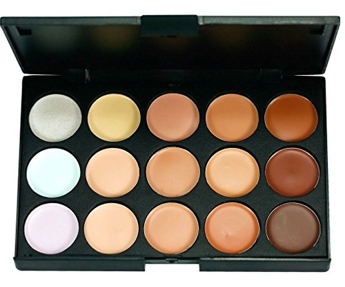 Boolavard TM 15 Beautiful Color Palette Concealer Concealer Camouflage Eyeshadow with 7pcs Make Up Brush