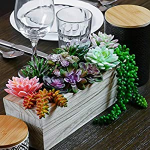 12 Fake Succulent Plants Realistic- Artificial Succulent Plants- Large Faux Succulents Unpotted- Hanging Floral Succulent Cuttings Arrangement- Outdoor And Indoor- Wall Decor -Easy DIY With Stems 3