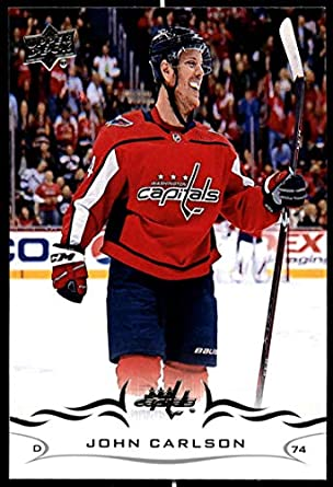 2018-19 Upper Deck Hockey Series Two  438 John Carlson Washington Capitals  Official UD 36bf8b15edc