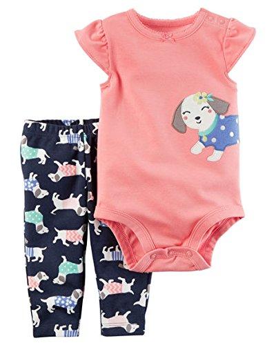 Carter's Baby Girls 2-Piece Bodysuit Pant Set (Puppy) (18 Months)