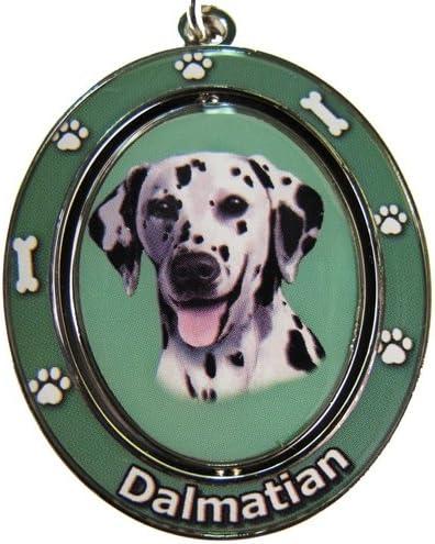 E&S Pets Llavero Dálmata Spinning Pet Key centro giratorio de ...