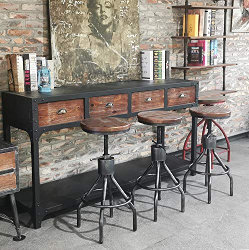 Farmhouse Barstools Diwhy Industrial Vintage Kitchen Counter Height Adjustable bar Stool,Farmhouse French Stylish Kitchen Stool,Swivel Bar… farmhouse barstools