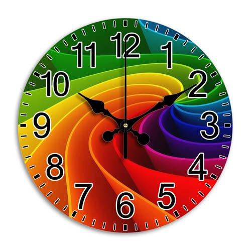 Silent Frameless Style Arabic Numbers Stylish Clock Round Wall Clock 10 Inch Diameter