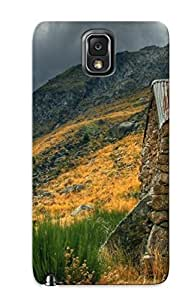 High Grade Markrebhood Flexible Tpu Case For Galaxy Note 3 - Mountains Rock Houses Valley Photography