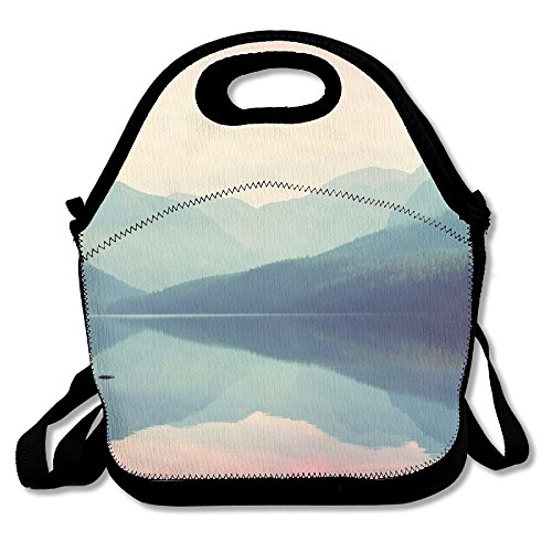 Kooiico Glacier National Park Montana Usa Instagram Filter Best Graphic Lunch Tote Lunch Bag School -