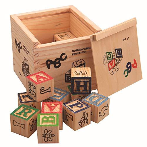 GRACEON Children's Educational Variety Blocks 27 Tablets | Printing Digital English Alphabet Blocks | Early Education Toys|Multi-Function Building Blocks -