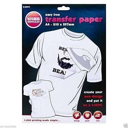 ILOVEDIY - Papel de transferencia para camiseta o textil ...