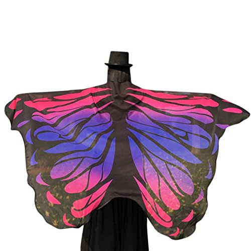 ❤️❤️Clearance! Hot Sale! New Fashion 2018 Valentine's Day Women Butterfly Wings Soft Fabric Shawl Fairy Ladies Nymph Pixie Costume Accessory (free, Hot Pink) (Fairy Club Wings Pink)