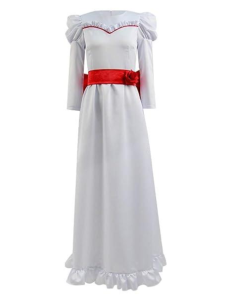 Amazon.com: Xiao Maomi Mujeres Niñas Vestido Largo Annabelle ...