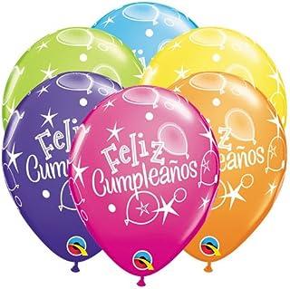 Qualatex Latex Balloons 42948Q Feliz Cump LEANOS, 11-Inch Colourful