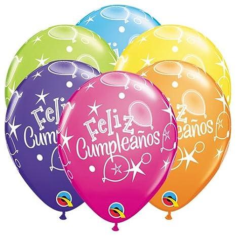 Amazon.com: Qualatex Latex 42948-Q Feliz Cumpleanos Balloons ...