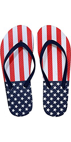 8aacac71a4f56 SLR Brands Women s American Flag Flip Flops Rubber Thong USA Flip Flop  Sandal For Women