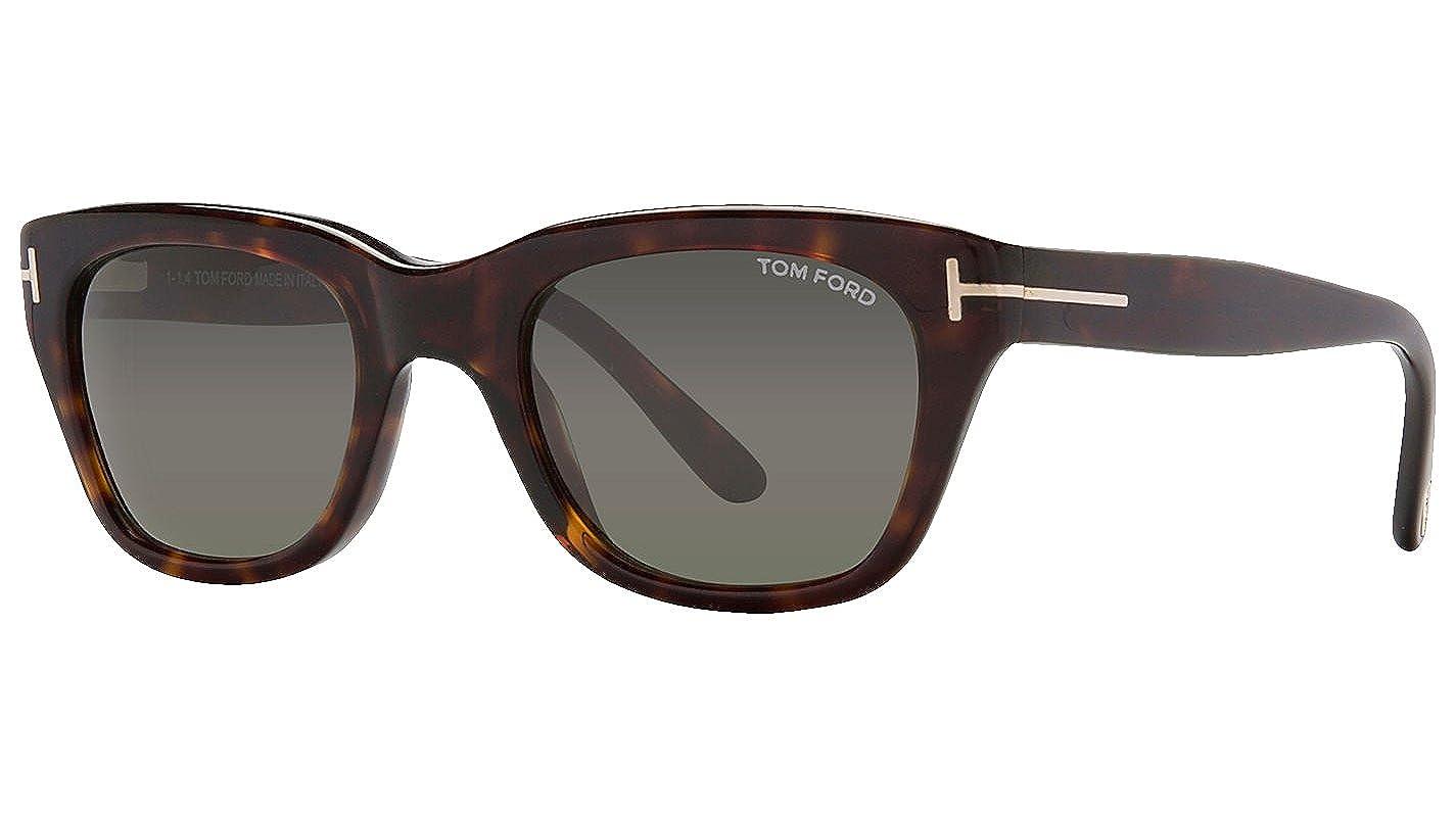 Tom Ford メンズ 52 mm Dark Havana Frame Solid Black Lens B01N2HCQ8W