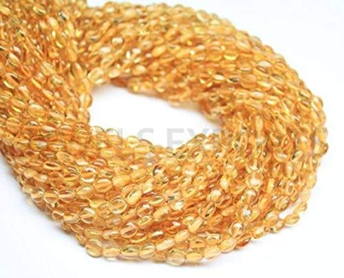 Beads Bazar Natural Beautiful jewellery 20 Strands Lot Yellow Golden Citrine Smooth Oval Gemstone Loose Craft Beads 14