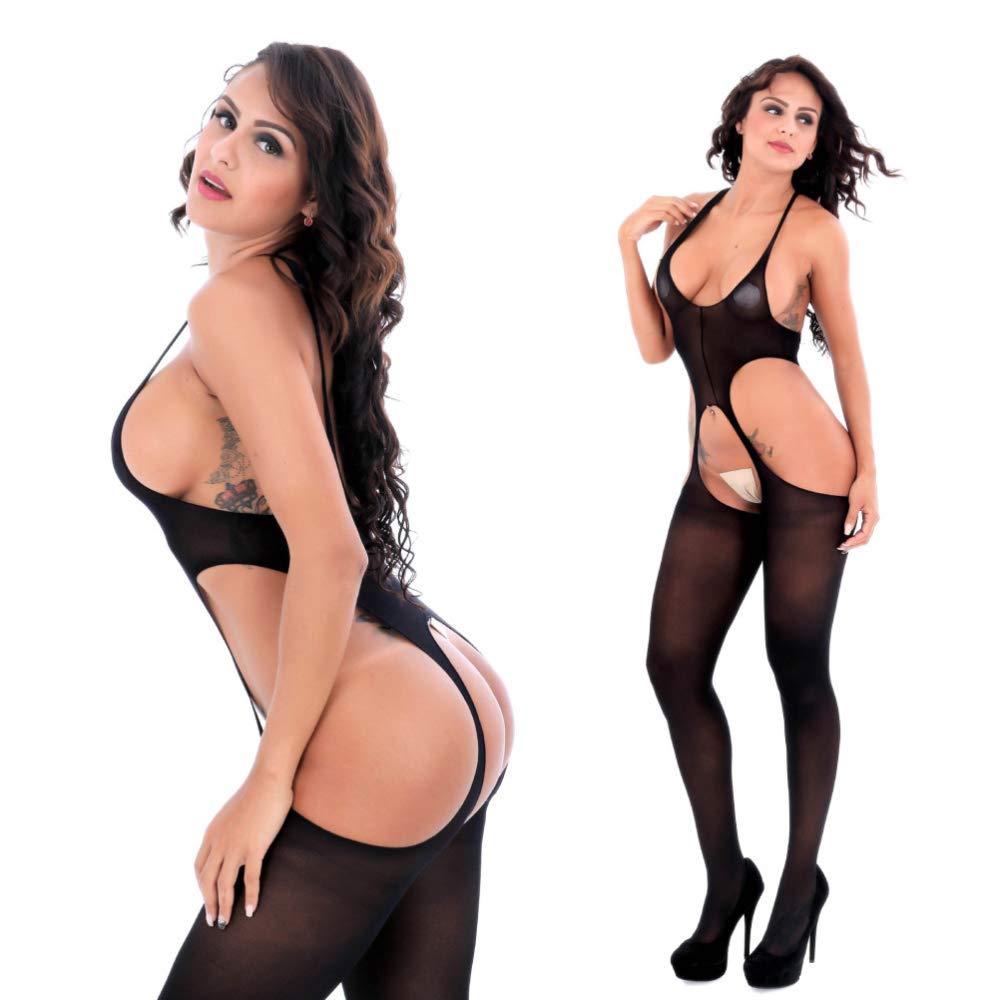 YKXY Sexy Sexy YKXY DiversióN De Perspectiva Abierto A Cuatro Caras Mono Medias Siameses Calcetines Sexy Negro Semi Permeable cca2b1